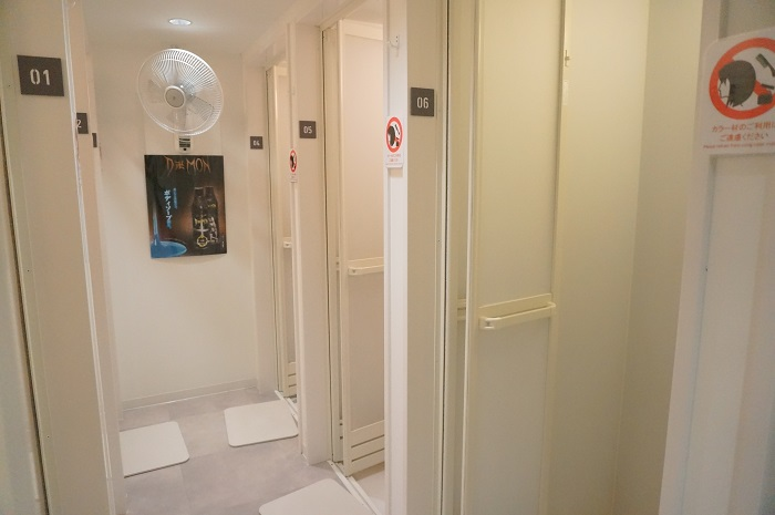 <CYCLE & STUDIO R Shibuya>のシャワールーム