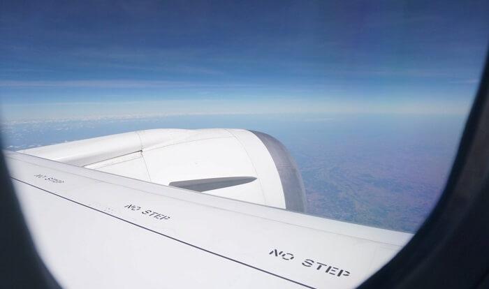 飛行機からの景色。