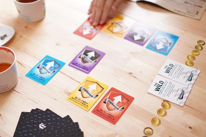 防御カードをどれにするかで、いきなり揉める。