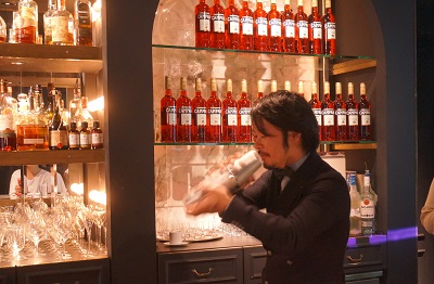 <Mixology Experience> オーナーの南雲主于三氏 |アサヒビールのカンパリセミナーにて。