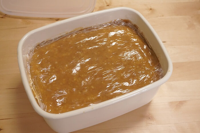 蓋をあけたらお味噌と麹のいい香り。