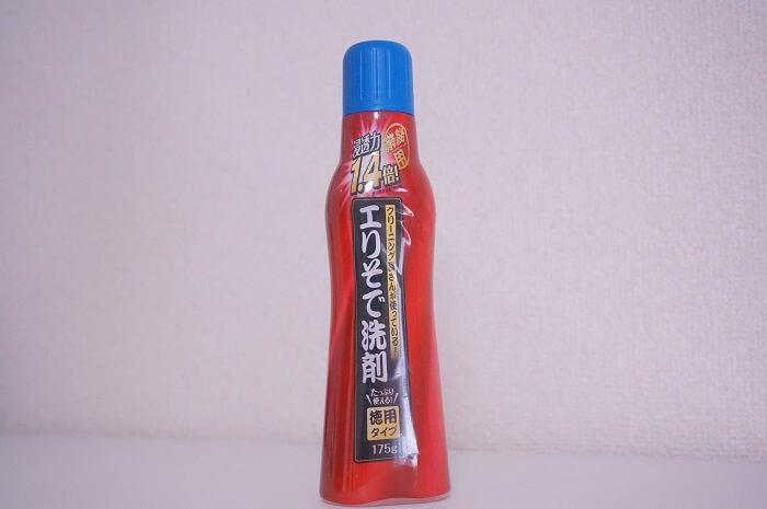 業務用として販売されている「クリーニング屋さんが使っている!エリそで洗剤」のお得な徳用タイプ。
