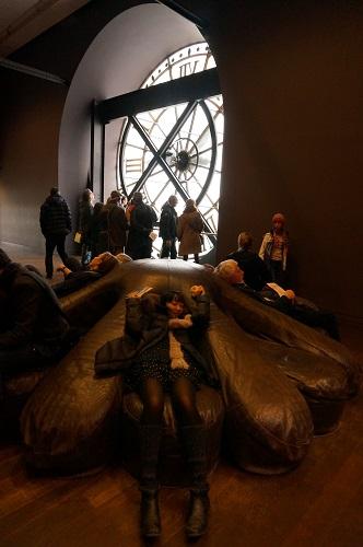 のんびり観光できるオルセー美術館。