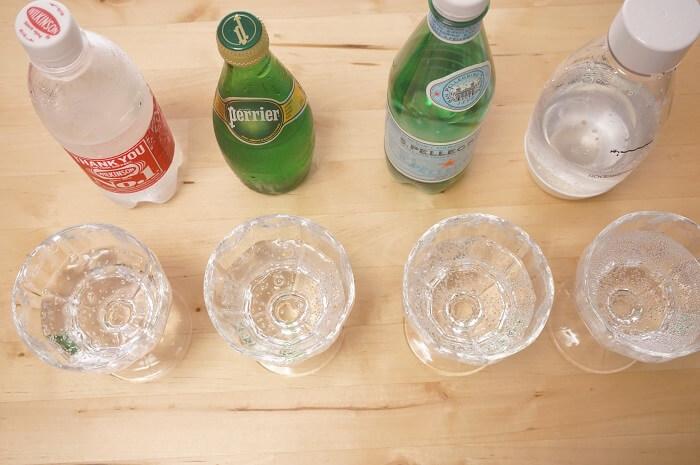 人気の炭酸水ウィルキンソンと、Perrier、サンペレグリノとソーダストリームを飲み比べしてみた結果は?