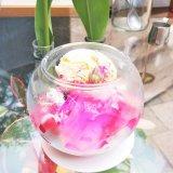 青山フラワーマーケットのカフェ<TEA HOUSE>のフラワーパフェが人気