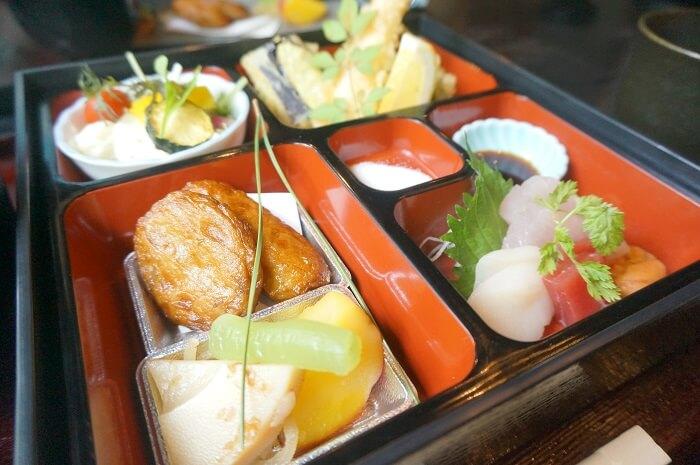 松花堂弁当のおかず。