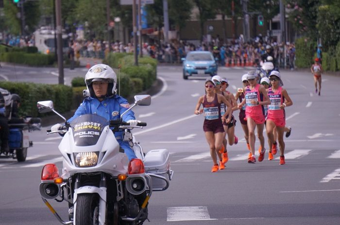 女子はワコール勢が序盤のレースを作る展開。|2019年9月MGC【飯田橋交差点下にて撮影】