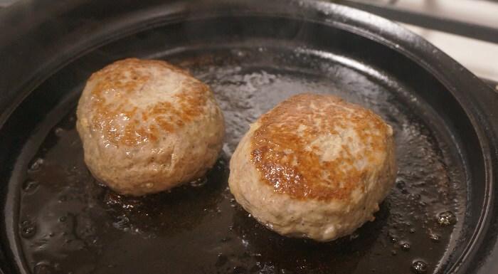 おいしいハンバーグの焼き方。