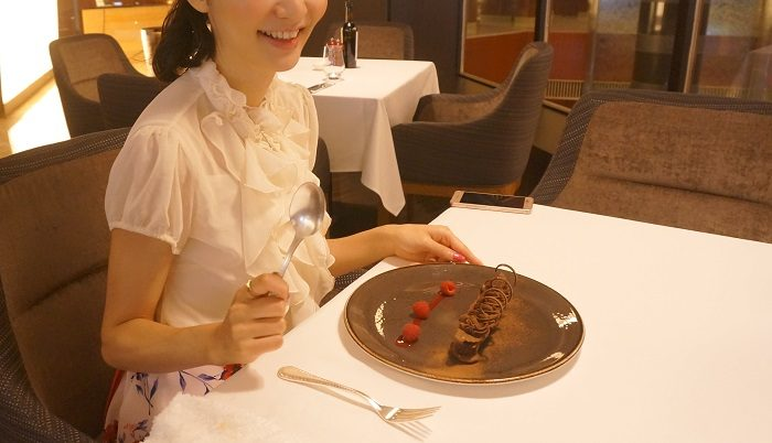 美味しいチョコレートケーキ。|ANAインターコンチネンタルホテル東京 3FL.ザ・ステーキハウス