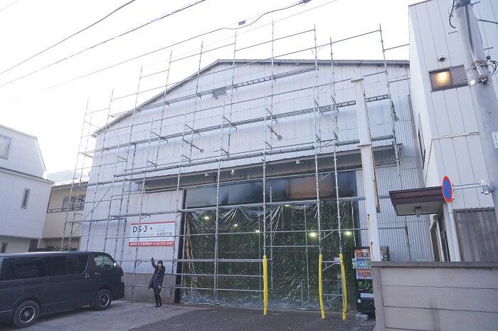 DSJ東京中目黒校・船堀飛行場の外観。