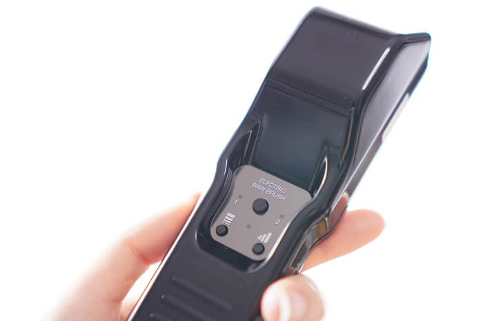 電流の強さも手元で調整できます。