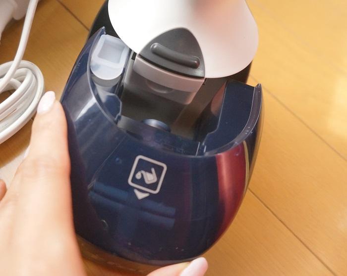 ティファールの衣類スチーマーなら吸水タンクも140mlの大容量。