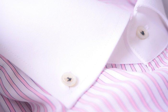 プラスチックのボタンにはない白蝶貝の輝き!|男性へのプレゼントにKEIの素敵なオーダーシャツ【30~40代向け】