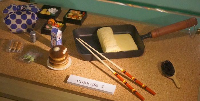 春のエピソードで登場したお花見のお弁当|『リラックマとカオルさん』の展覧会
