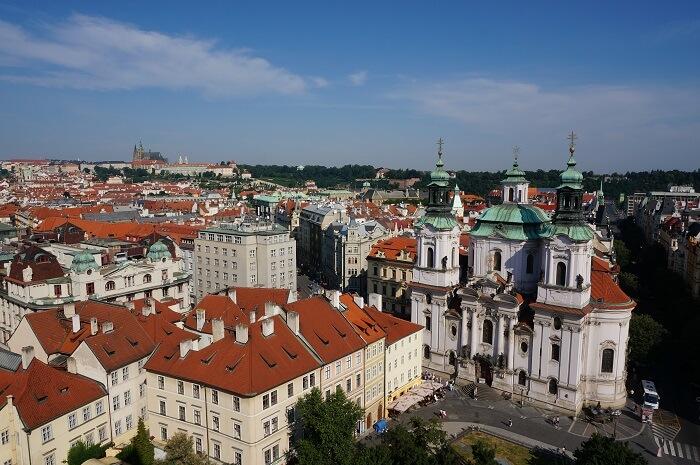 チェコ・プラハの街並み。