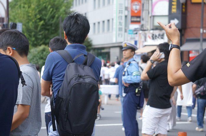 そんなに混んでいませんでした。|2019年9月MGCマラソン【飯田橋交差点下にて撮影】