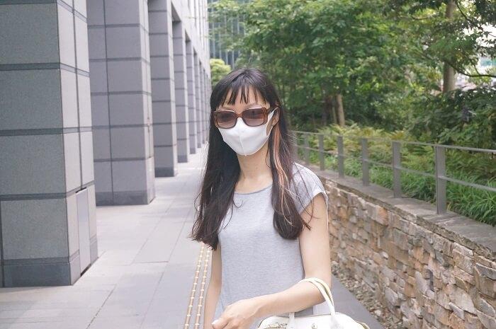 通気性がいいからメガネも曇らないマスク。