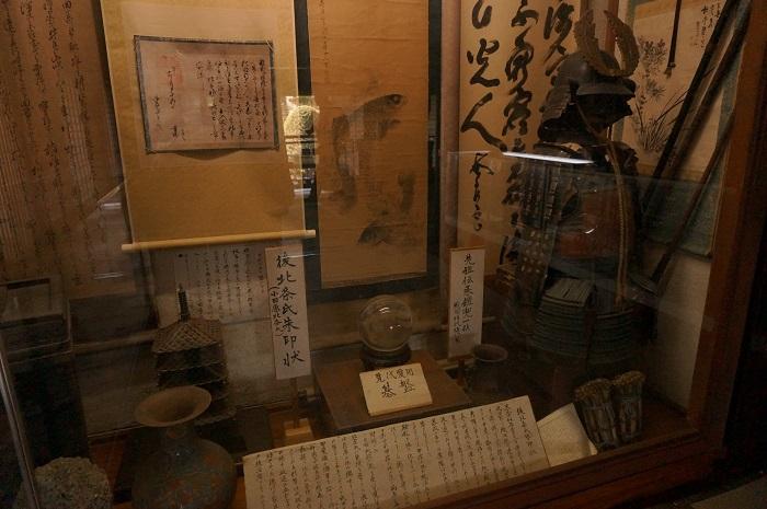 <榛の木林資料館>にある渡辺泉氏の家の貴重な甲冑の展示