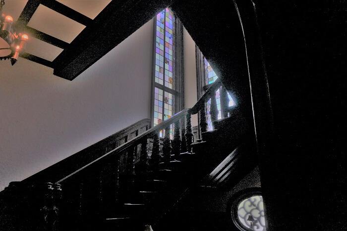 赤坂プリンス クラシックハウスの階段。