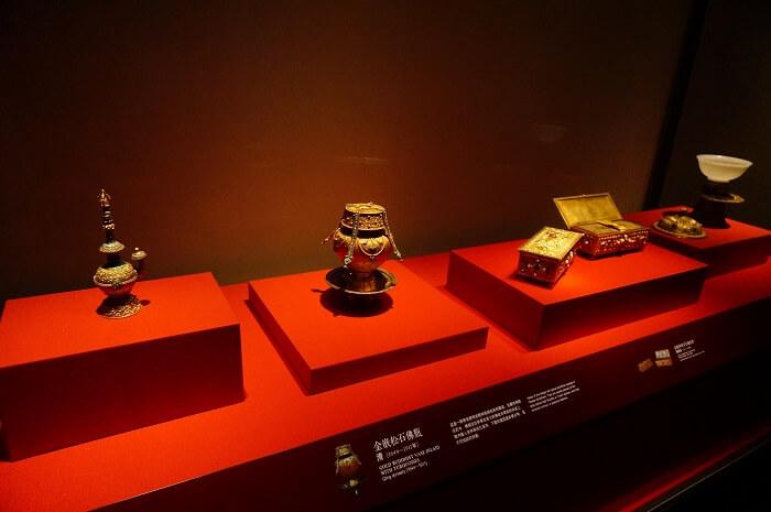 紫禁城のなかにある珍宝館の展示。