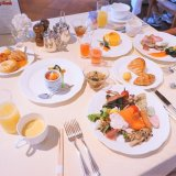 志摩観光ホテルのレストランの朝食。