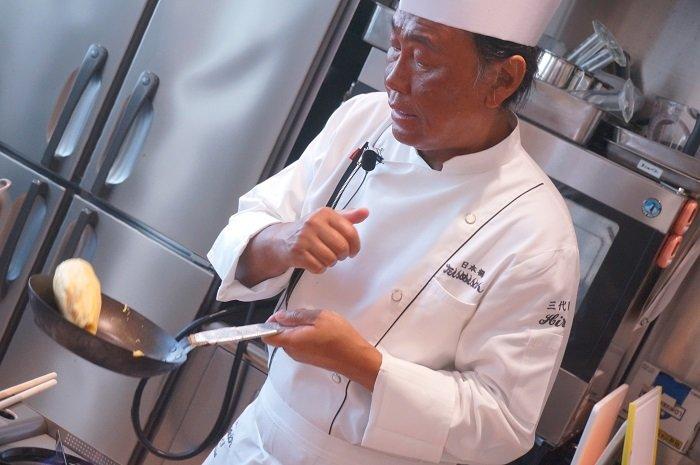 タンポポオムライス!たいめいけんの茂出木シェフの料理教室開催@にんべん本社