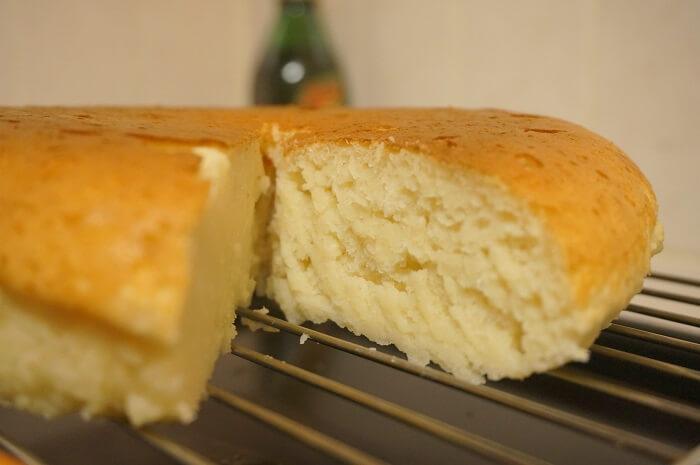 生おからで作るプレーンな蒸しケーキ。