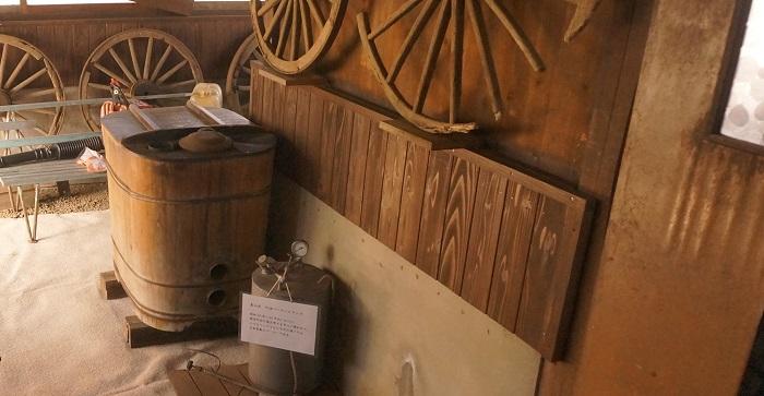 <榛の木林資料館>にある渡辺泉氏の家のお風呂場。