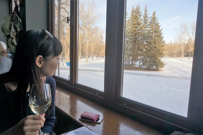 美しい冬景色とともにおいしいランチはいかが?