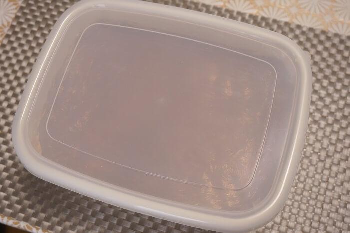 寒仕込みの手作り味噌、カビの様子を点検しました。