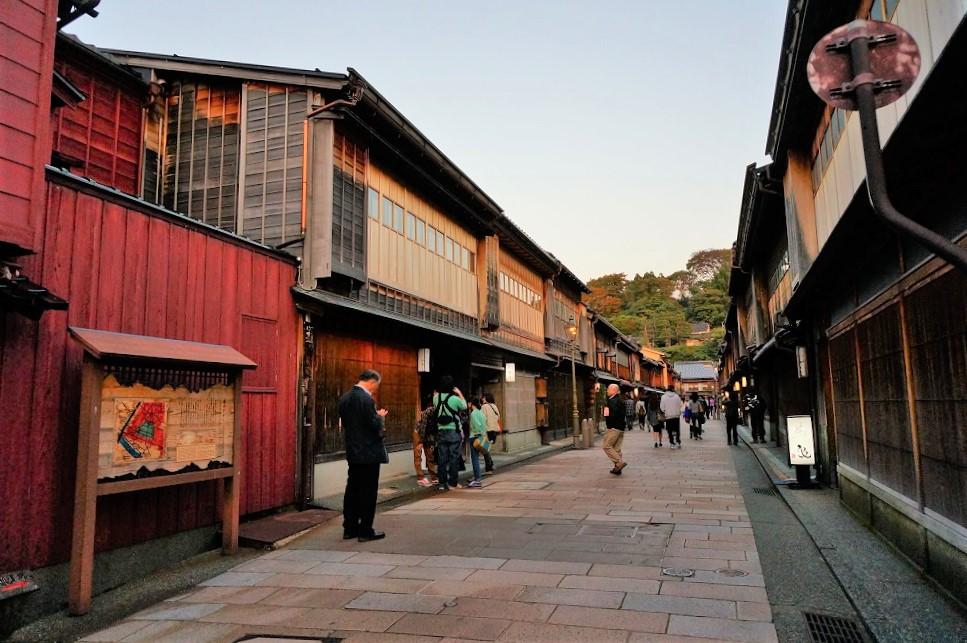 古都・金沢の街並み。