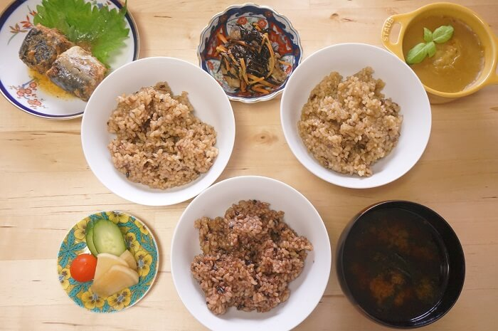 玄米ご飯も日常的に!