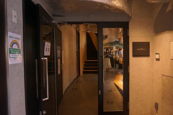 広尾にオープンしたTHE RESTAURANTの入口。