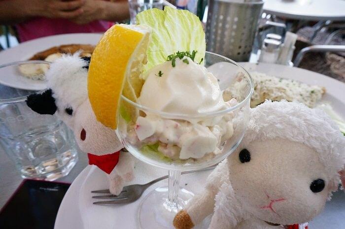 プラハのレストランで食べた前菜もさっぱりしてておいしかった。