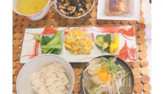 朝食は作り置きでラクラク!野菜たっぷりな和食ごはん