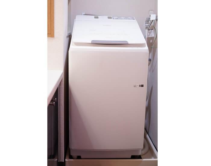 洗濯容量は10㎏なのでまとめ洗いや毛布などの大物洗いも自宅で簡単。