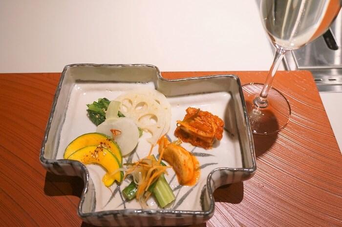 銀座Salon de AgingBeefの前菜。
