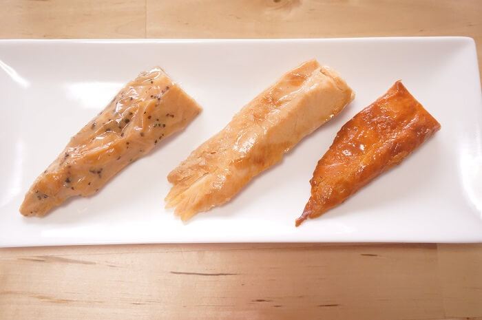 丸善 PROFIT SaSami (プロフィット) 国産鶏SASAMI ささみ3種比較。