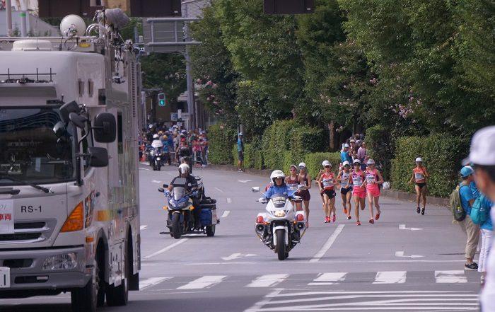 東京オリンピックマラソン。直線のコースで撮影しやすいポイントをご紹介|2019年9月MGCマラソン【飯田橋交差点下にて撮影】