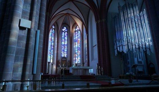 マインツ王道観光:聖シュテファン教会でシャガールブルー