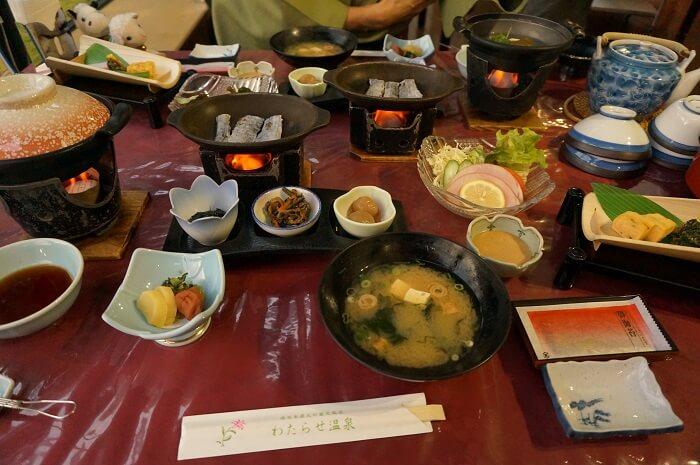 熊野本古道散策におすすめ「わたらせ温泉ホテル」の朝食