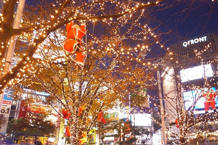 クリスマスの渋谷で。