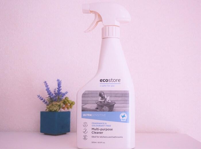 家のなかを掃除&除菌。エコストアのマルチクリーナーが大活躍。