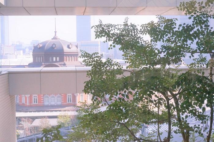 丸ビルからは東京駅が見えるよ。ランチに困ったら、ココがおすすめ。おいしいイタリアンのお店を発見。