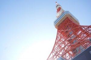 東京タワーと青空。
