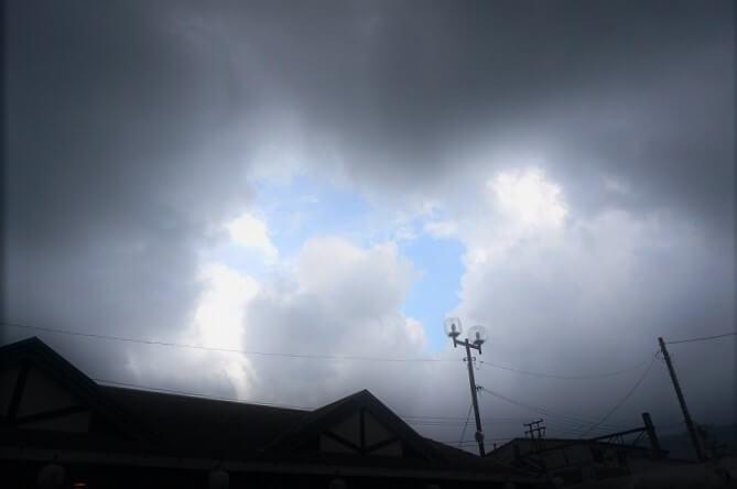 箱根は山なので、天気が変わりやすい。