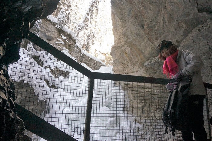 ローワー・フォールズ Lower Fallsの滝の先で見た景色にもご注目。