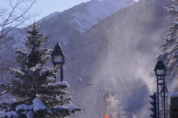 バンフの雪景色。