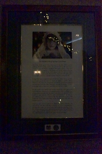 バンフスプリングスホテルで一番有名な花嫁の幽霊。