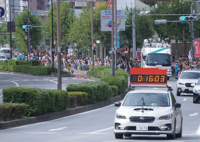 |2019年9月MGCマラソン【飯田橋交差点下にて撮影】